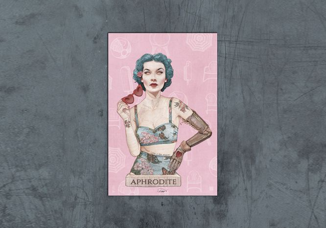 Aphrodite Poster - The 'Wise Reinvented' Series