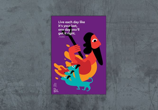 Hades Poster - The 'Greek said it first' Series
