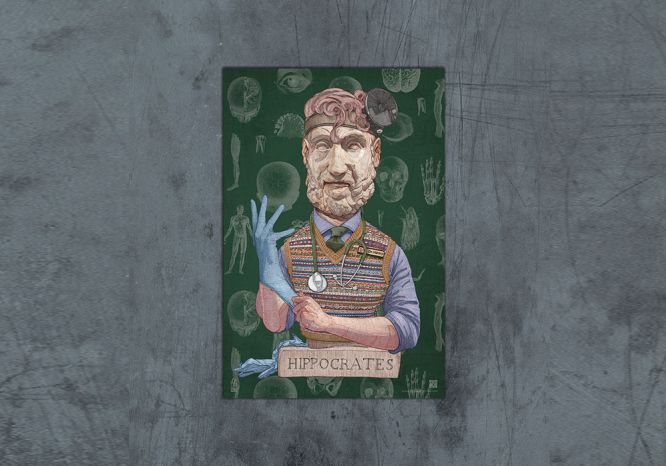 Hippocrates Poster - The 'Wise Reinvented' Series