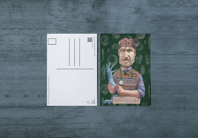 Hippocrates Carte Postale - The 'Wise Reinvented' Series