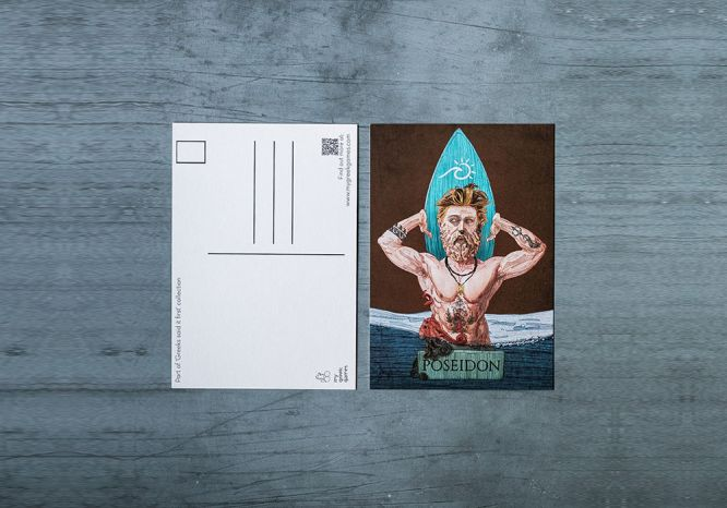 Poseidon Carte Postale - The 'Wise Reinvented' Series