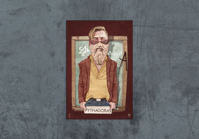 Pythagoras Poster - The 'Wise Reinvented' Series