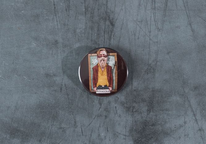 Pythagoras Pin - The 'Wise Reinvented' Series