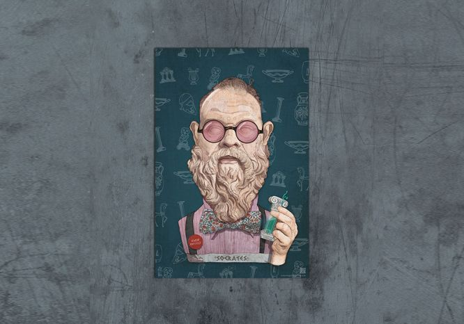 Socrates Poster - The 'Wise Reinvented' Series